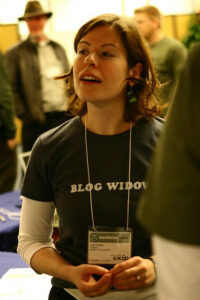 Picture of a blog widow