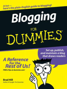 a book of blogging for dummies