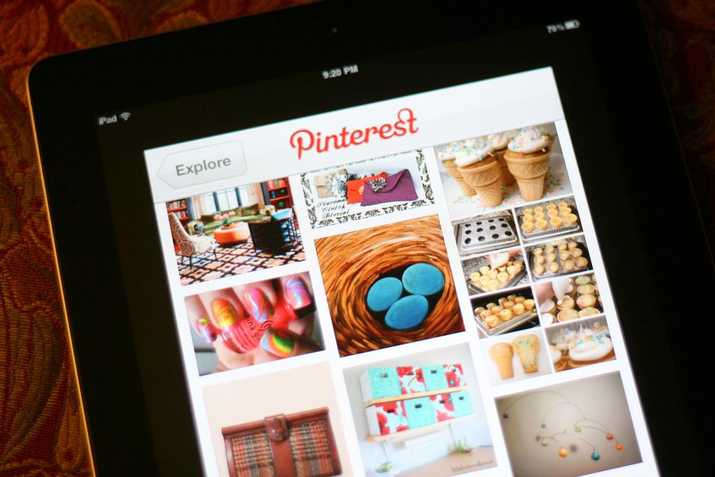 Pinterest from an iPad