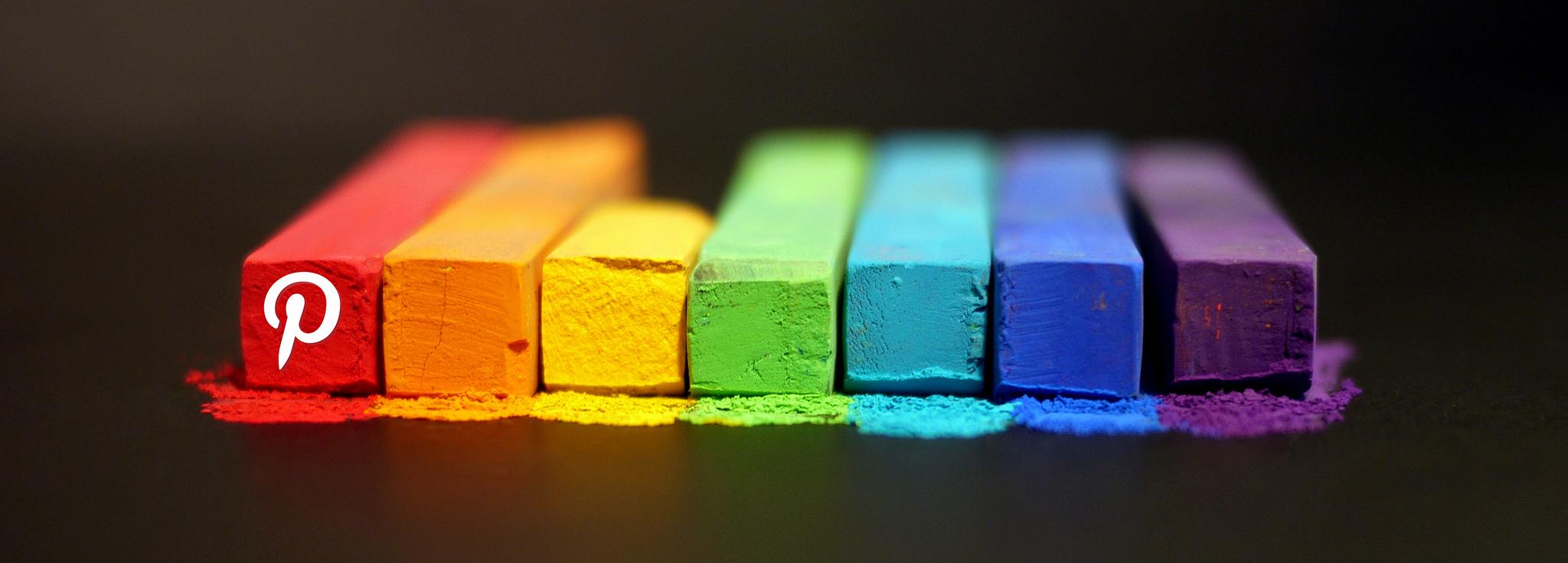 Coloured Chalks Showing Pinterest