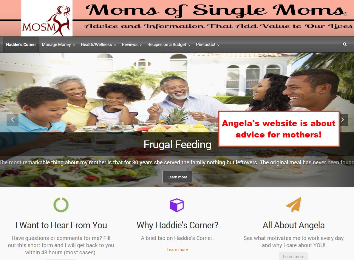 Angela's website