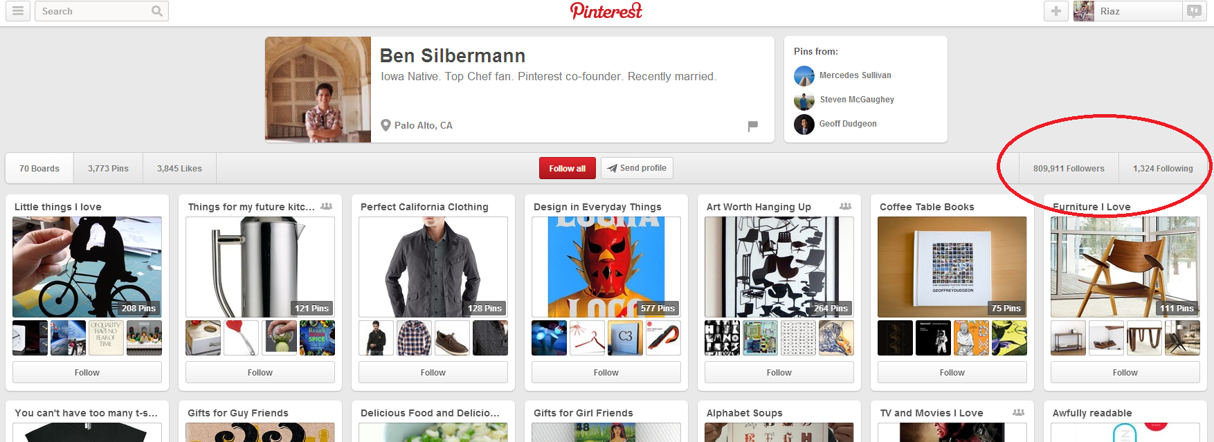 Ben Silbermann's Pinterest