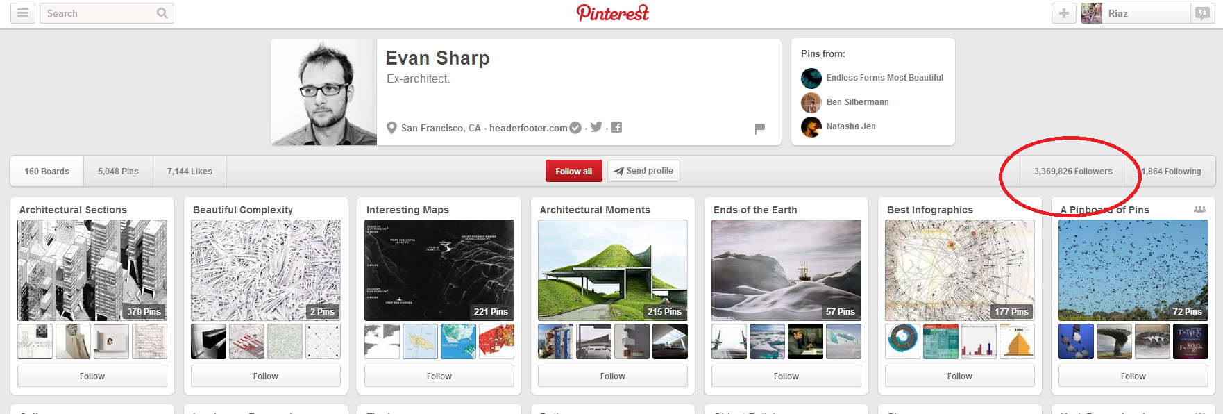 Evan Sharp's Pinterest Account