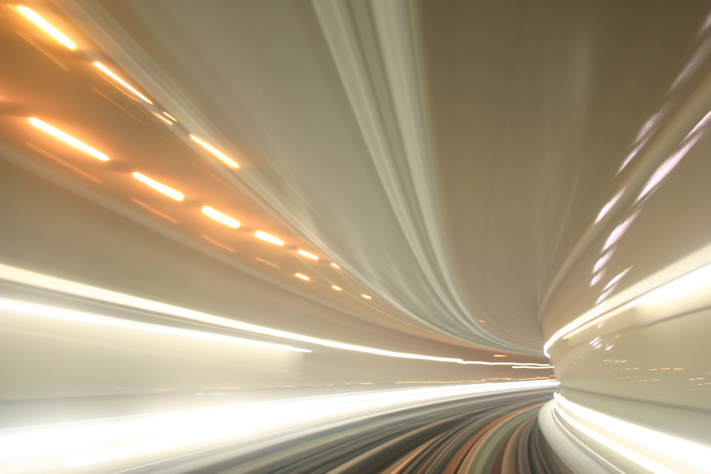 extreme speed from train view