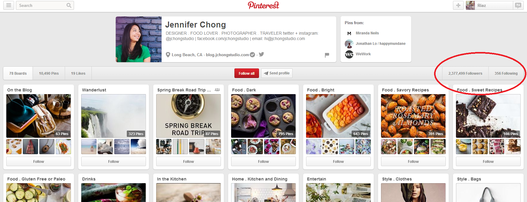 Jennifer Chong's Pinterest Account