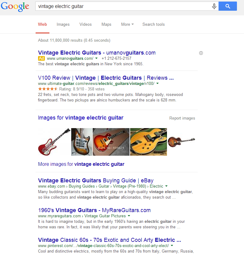 vintage electric guitar 2014 Google search results