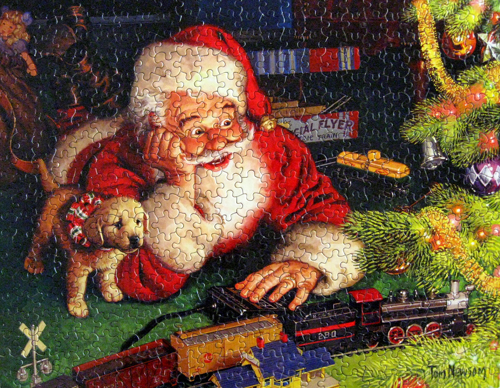 Welcoming picture of Santa puzzle