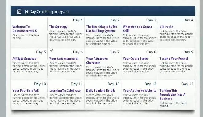 Dot Com Secrets X 14 Day Coaching