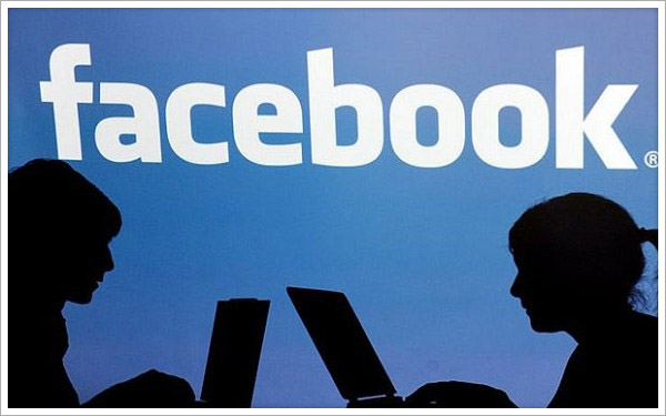 silhouettes of Facebook users