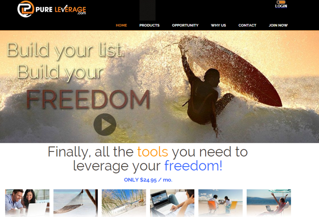 Pure leverage home page