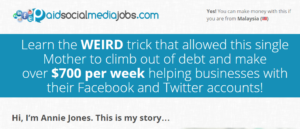 paid social media jobs home page