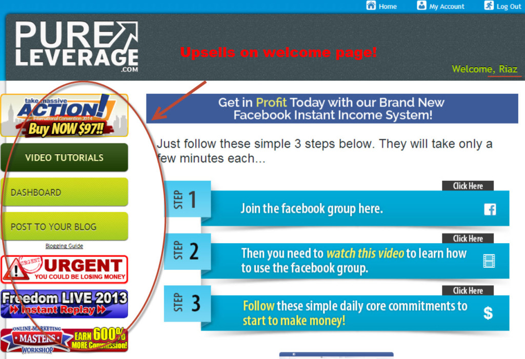 pure leverage member's page