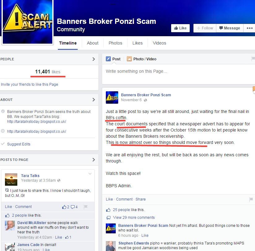 Banners Broker Ponzi Scam