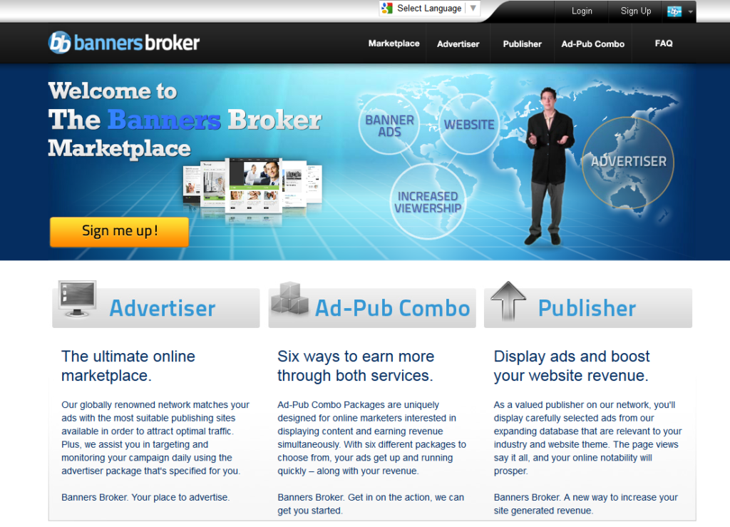 Banners Broker home page