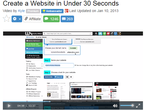 Create a website under 30 seconds