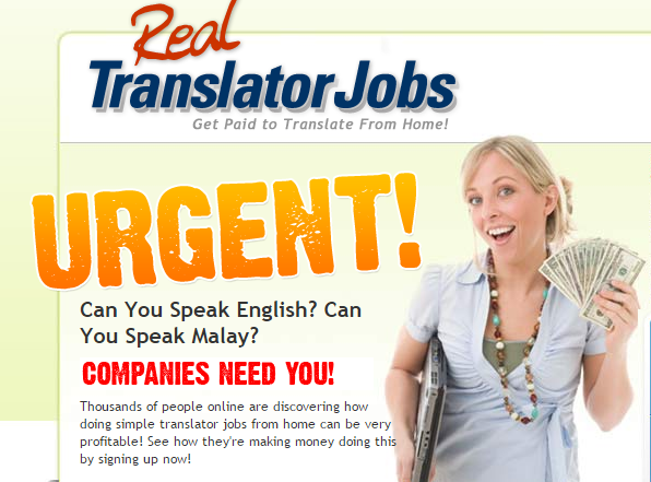 Real Translator Jobs Home Page