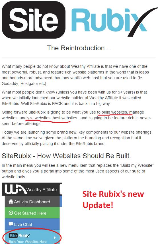 Site rubix new update