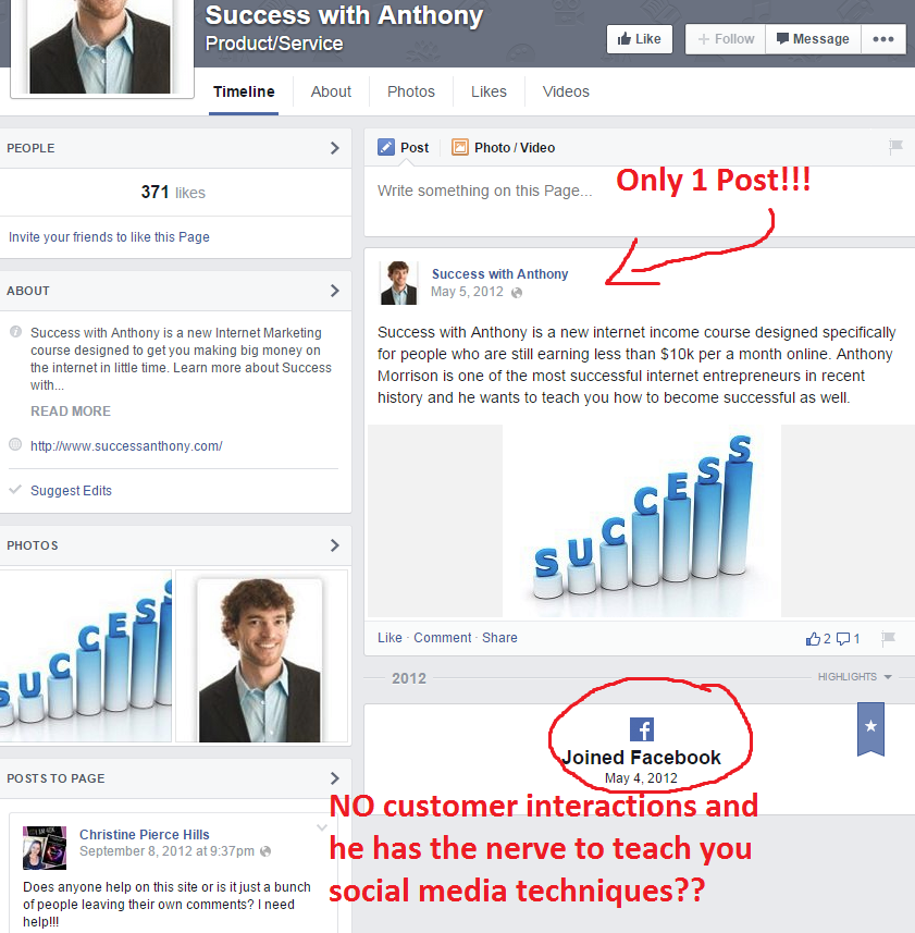 Succes With Anthony Facebook