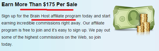 Brainhost affiliate program