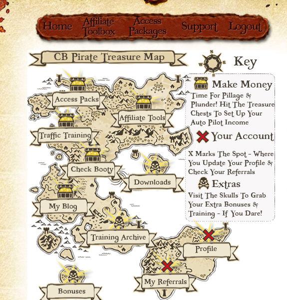 Clickbank Pirate Members area