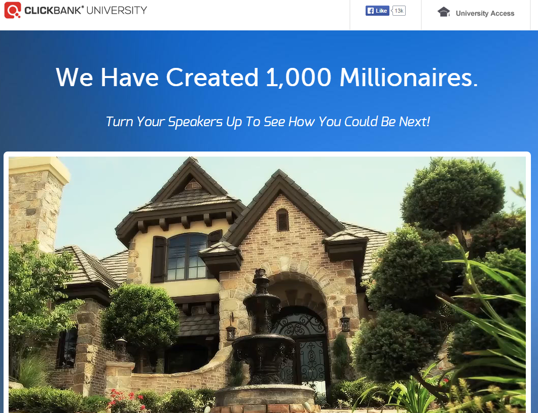 Clickbank University home page
