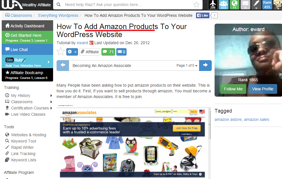 How to add an Amazon link to your website