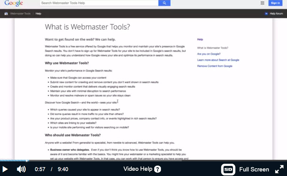 How to set up Google Webmaster by Kyle WA