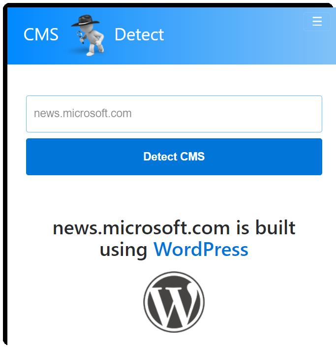microsoft blog using WordPress