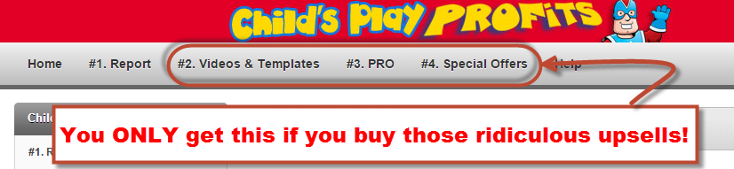 Locked content in Child's Play Profits