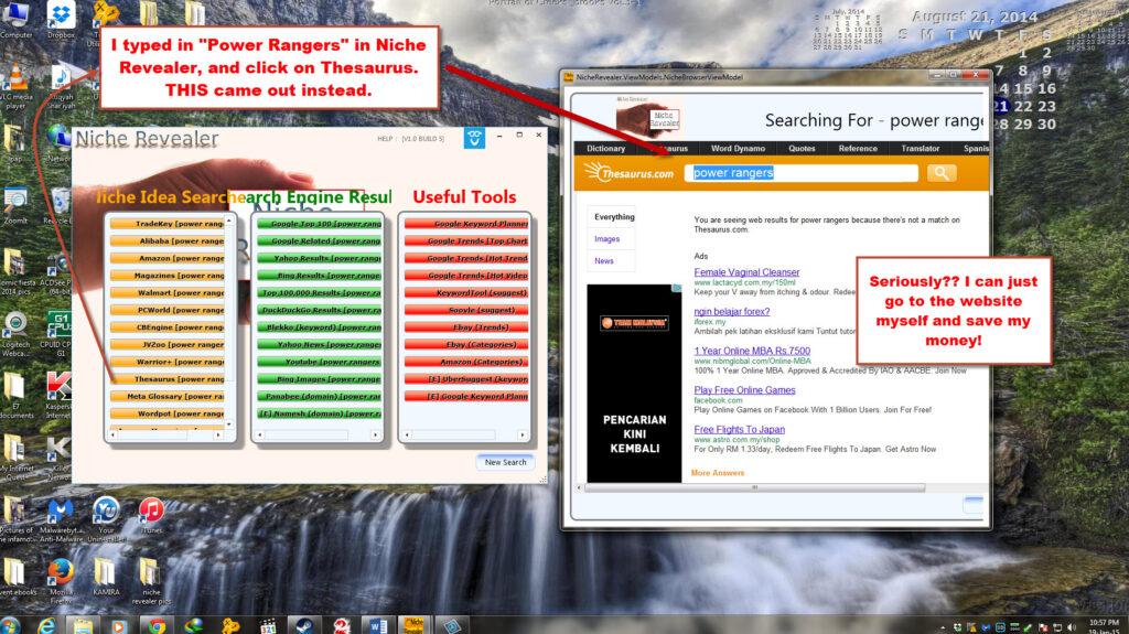 Niche Revealer software weakness