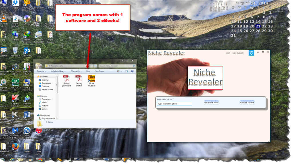 Niche Revealer tools and training