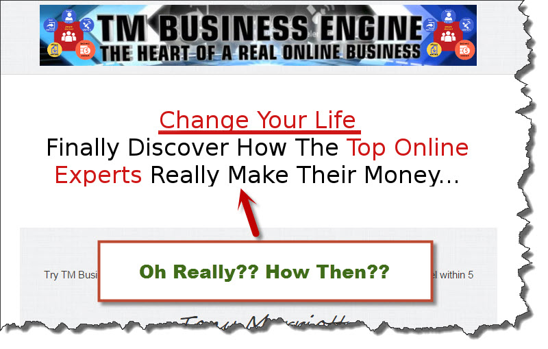 TM business engine upsell