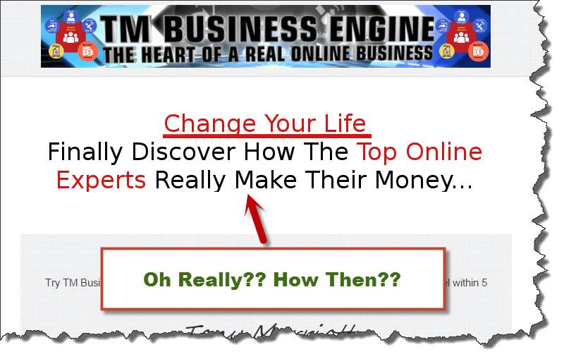 TM business engine upsell