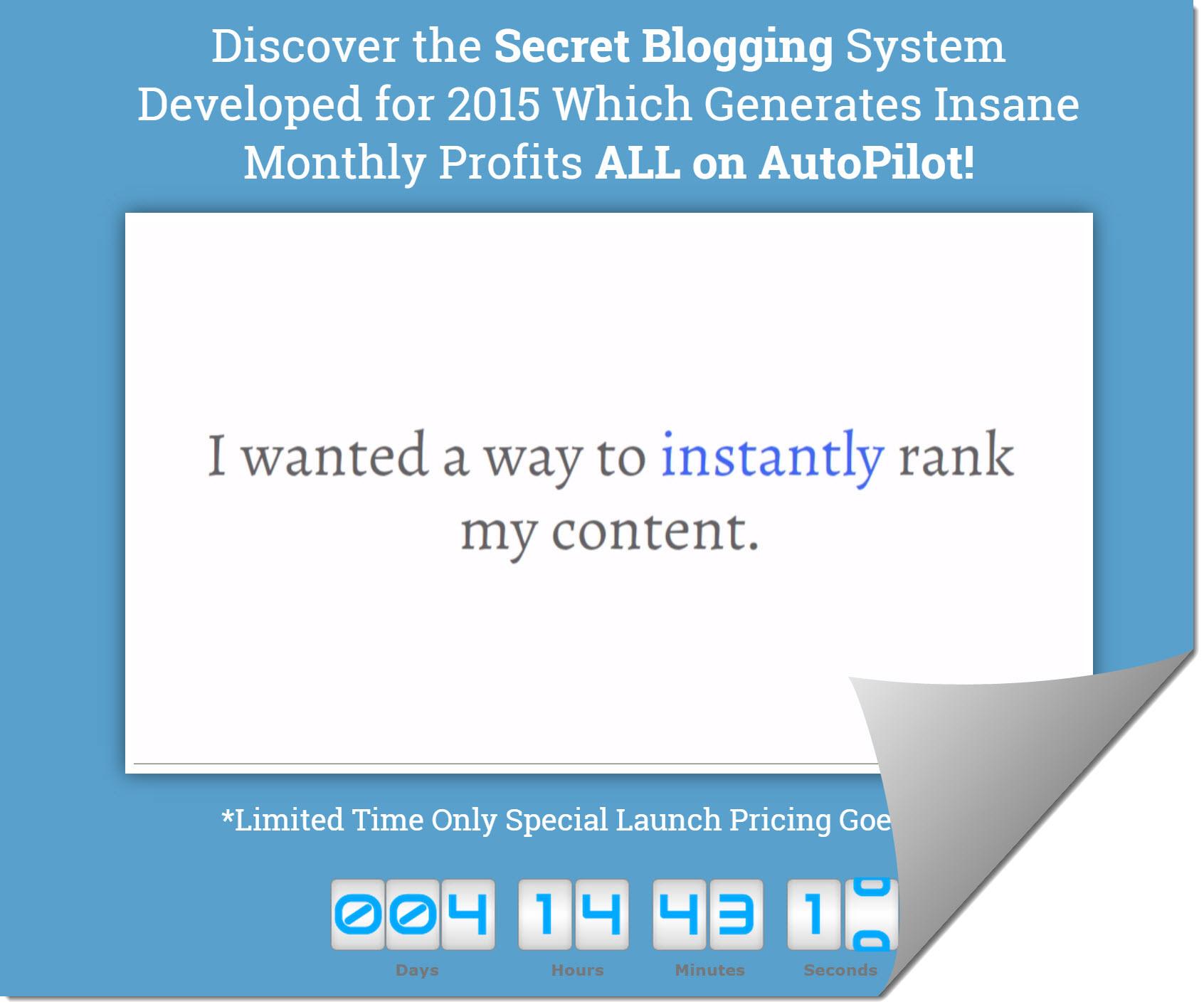 blogging on autopilot home page