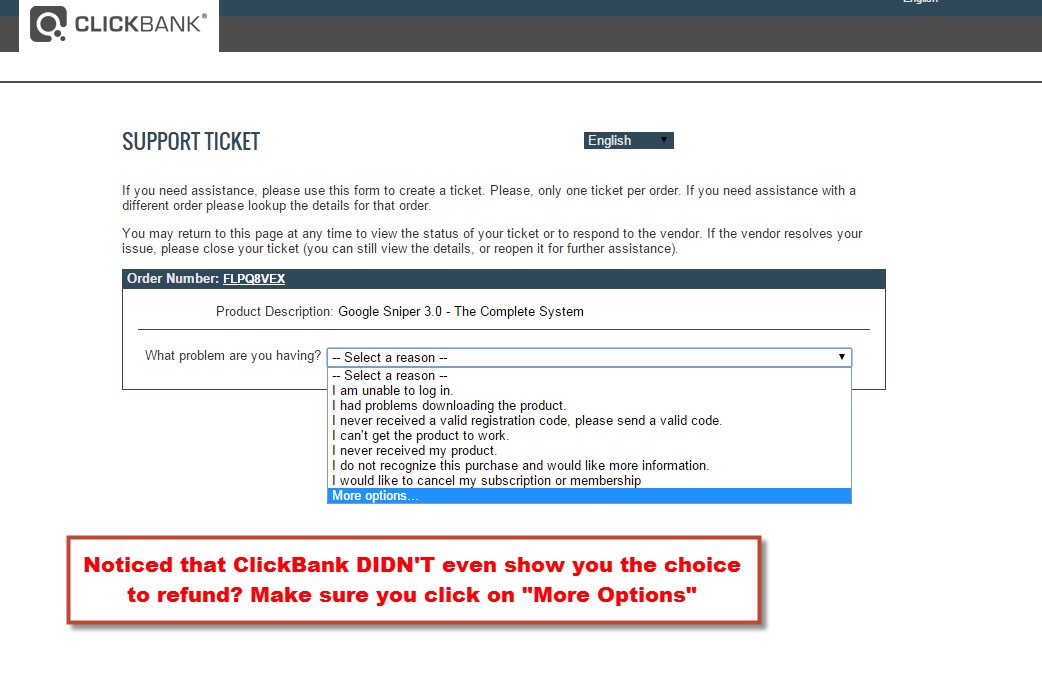 click on more options