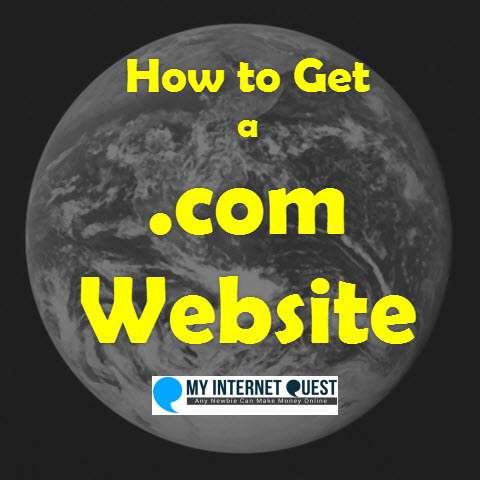 how to get a .com website