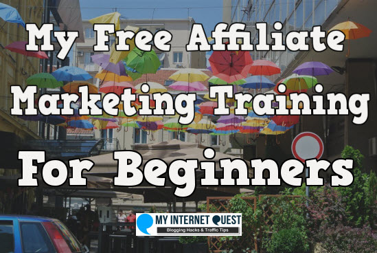 my free affiliate marketing training for beginners