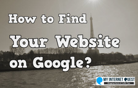 How to find your website on google