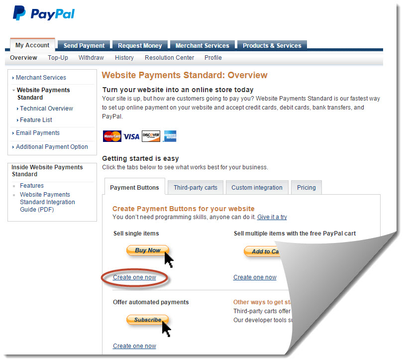 create payment button