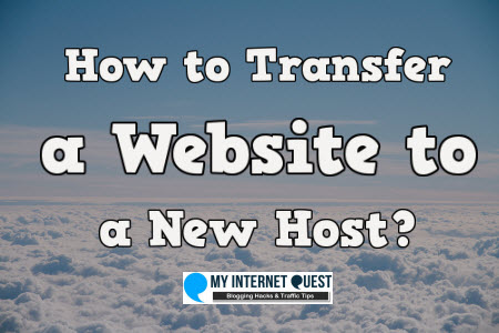 how to transfer a website to a new host