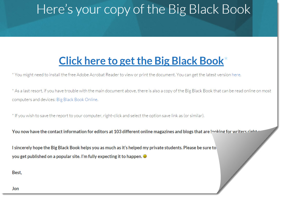 Big black book cover