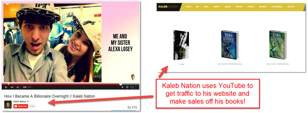 Kaleb Nation YouTube traffic