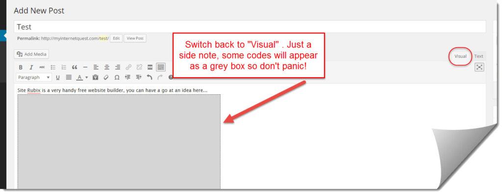 Site Rubix grey box