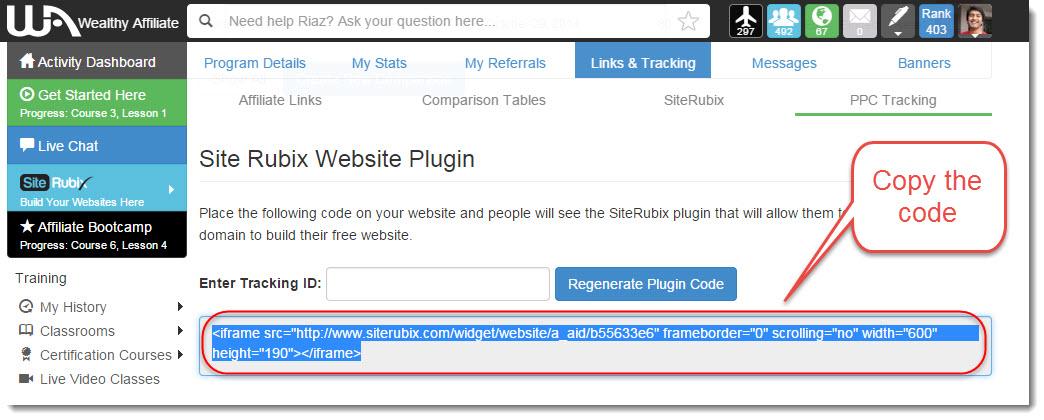 Siterubix code