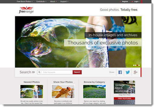 free range homepage