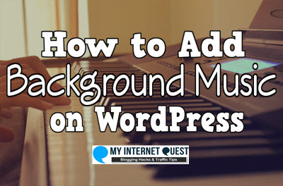 how to add background music on wordpress
