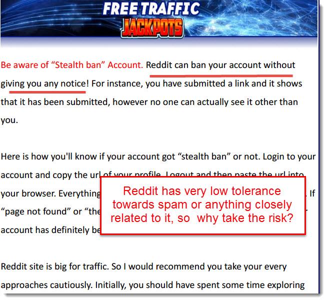 reddit spamming