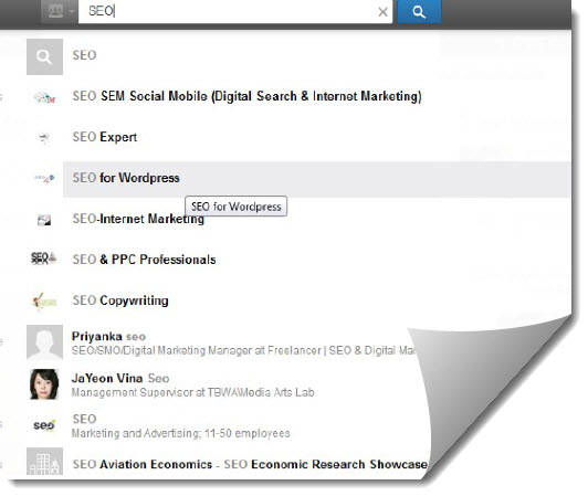 seo groups in linked in