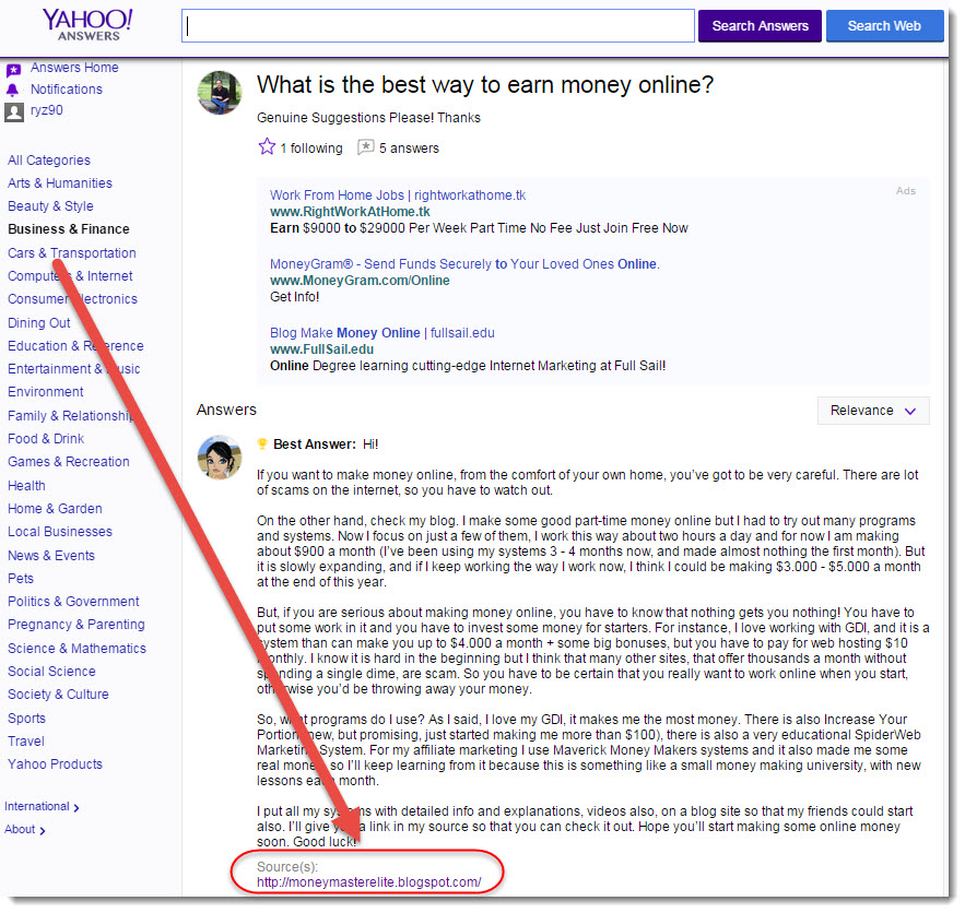 yahoo answers forum