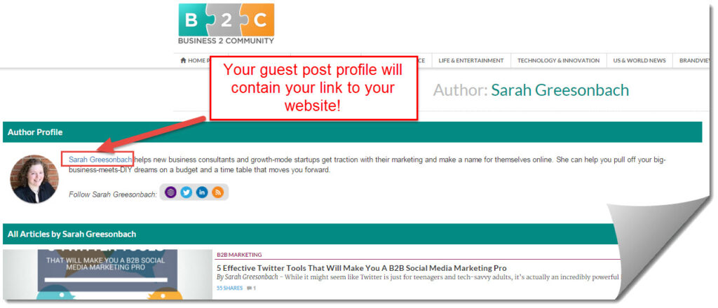 b2c guest post profile